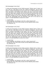 Arbeitsblattvorlage: Grundtext zum Wortfeld
