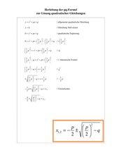 Herleitung der pq-Formel