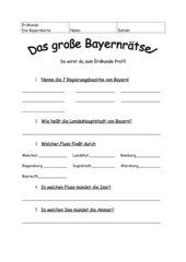 Bayernrätsel