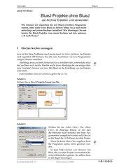 BlueJ-Projekte ohne BlueJ (Infoblatt)