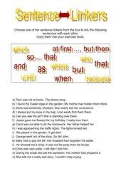 Sentence Linkers