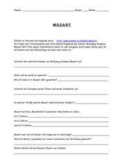 Fragen zur Mozart-Seite bei kidsnet.at