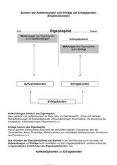 Buchen der Aufwendungen und Erträge auf Erfolgskonten -Schema-