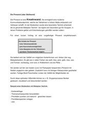 Arbeiten mit Pinwand (Metaplan)