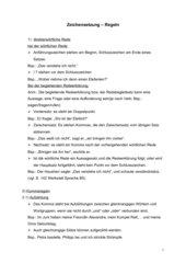 Regeln der Zeichensetzung
