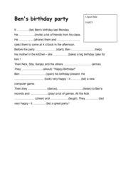 EG 2000 (A), Band 2, Unit 1: Lückentext Simple Past