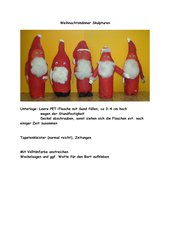 Nikolaus-Skulpturen aus PET-Flaschen