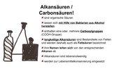 Alkansäuren / Carbonsäuren