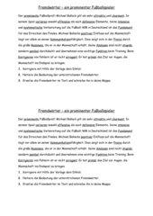 Fremdwörter - Übungstext mit Aufgaben