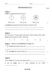 Mathematik Klassenarbeit 5 Klasse 5 BaWü