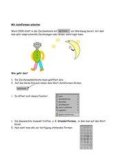 Autoformen in Word für Grundschüler