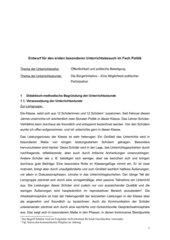Ausführlicher Unterrichtsentwurf Bürgerinitiativen