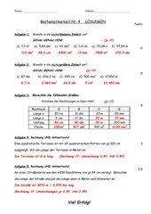 Mathematik-Klassenarbeit Nr. 4 Klasse5 Ba Wü