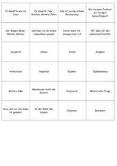 Memo-Spiel / Zuordnungsspiel:  Sprachliche Mittel