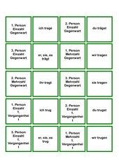 Memo-Spiel / Zuordnungsspiel über die Konjugation des Verb