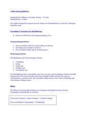Vorbereitung Zwischenprüfung Rechnungswesen