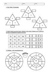 Aufgaben-Mix Addition, Subtraktion und Multiplikation für die 2. Klasse