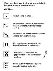Würfel-Aufwärmspiel für Schwimmanfänger (Kl. 5-7)