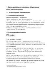 Unterrichtsvorbereitung: Pfingsten (5. Klasse)