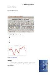 Arbeitsblatt Währungsrechnen