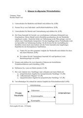 Klassenarbeit 1. Aj 1. Hj Kaufmann/-frau für Bürokommunikation