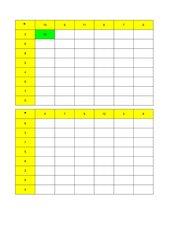Multiplikation Kopfrechnen Dreiminutenblätter mit Korrektur im Excel