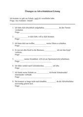 Übungen zu Adverbialsätzen 2