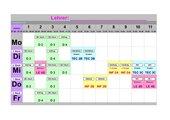 Stundenplan farbig gestaltet