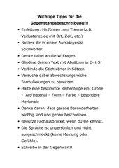 Gegenstandsbeschreibung Kl. 6 B-Kurs Gesamtschule