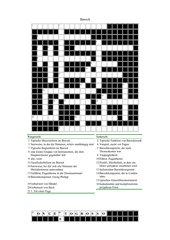 Kreuzworträtsel mit Begriffen aus dem Barock