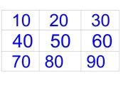Zahlenkärtchen bis 100