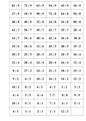 Spiel für Kopfrechen: Division (Kl.2/3)