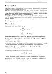 Monatsaufgabe als Klausurvorbereitung: Folgen und Reihen sowie Kurvenschar mit Flächenberechnung