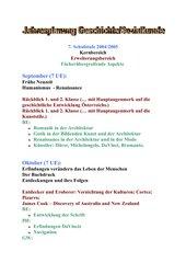 Jahresplan 3.Klasse HS Österreich