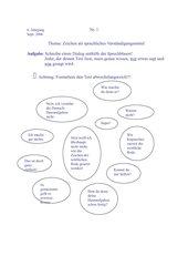 Klassenarbeit: Dialog-wörtliche Rede
