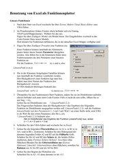 Anleitung für Excel als Funktionenplotter