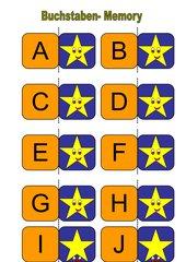 Memo-Spiel / Zuordnungsspiel zum Erlernen des Alphabetes