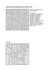 Wortsuchrätsel: 30 Wörter mit pf