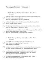 Rechengeschichten_Übungen (Klasse 2)