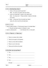 Englischtest Klasse 5 (Förderstufe)