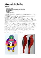 Vögel als Deko-Stecker