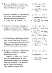 Aufgabensammlung zur Stöchiometrie bei Gas-Reaktionen