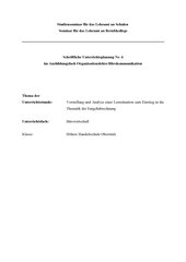 Einführung in die Thematik der Entgeltabrechnung