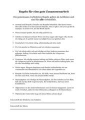 Regeln für einen geregelten Schulalltag