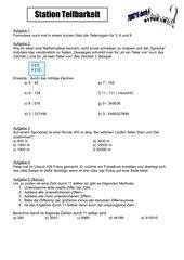 Lernzirkel Teilbarkeit und Primzahlen