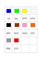 Farbdomino für den Englischunterricht