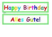 Geburtstagswünsche in verschiedenen Sprachen