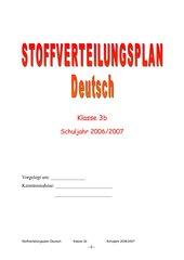 Stoffverteilungsplan Deutsch 3. Klasse GS Bayern