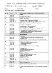 stoffplan Kl. 8 WAG - BW