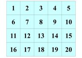 Quadratzahlen-Zuordnungsspiel/Memo-Spiel
